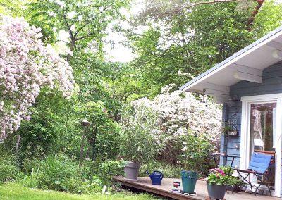 Bootshaus mit Garten