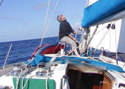 Hart am Wind segeln
